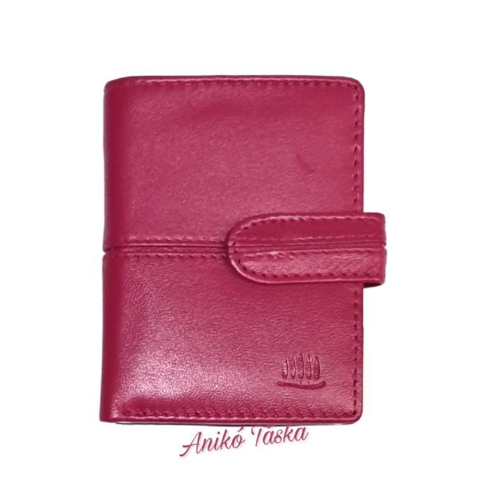 Puha bőr kártyatartó színes 51 rózsaszín