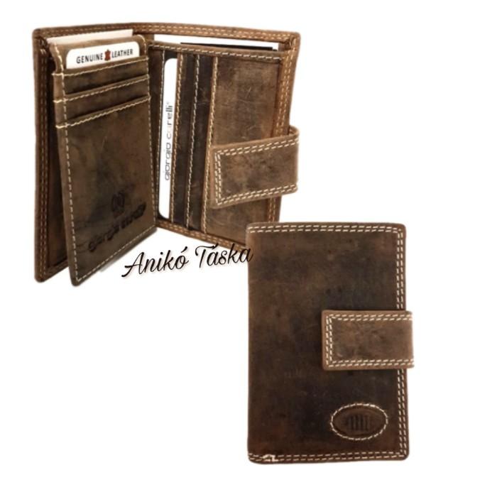 Kadro patentos zsírosbőr bankkártya tartó és pénztárca