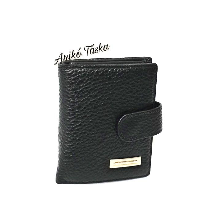 Prestige kis bőr pénztárca patentos apró tartós fekete