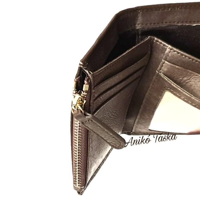 Prestige kis bőr pénztárca cipzáras aprtós fukszia