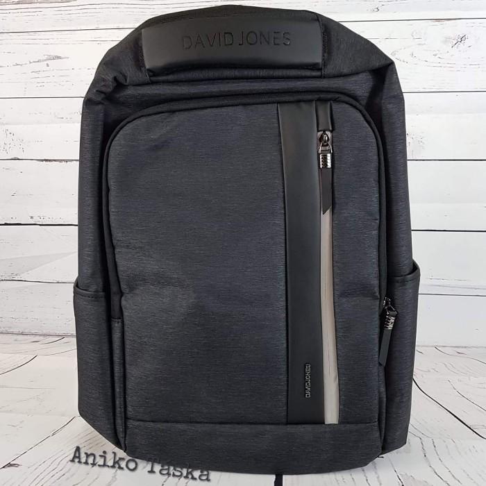 """DavidJones laptop hátizsák 17"""" szürkésfekete"""