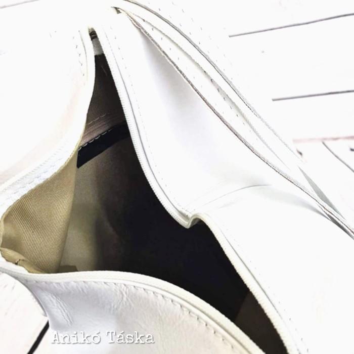 Olasz bőr háti táska fehér