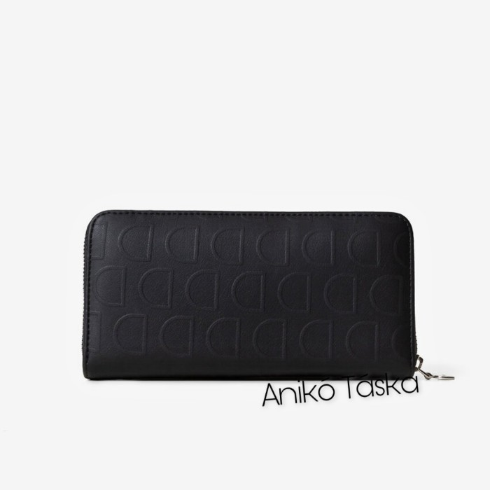 Desigual pénztárca cipzáras D mintás fekete