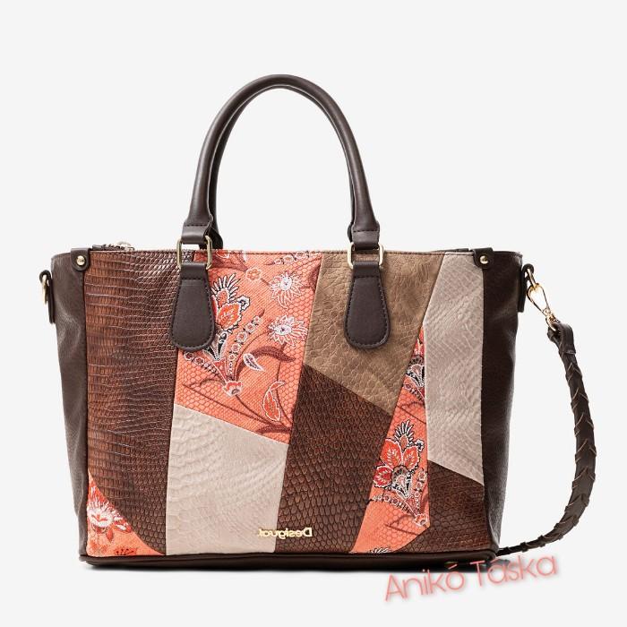 Desigual nagy női táska patchwork mintás plusz állítható pánttal