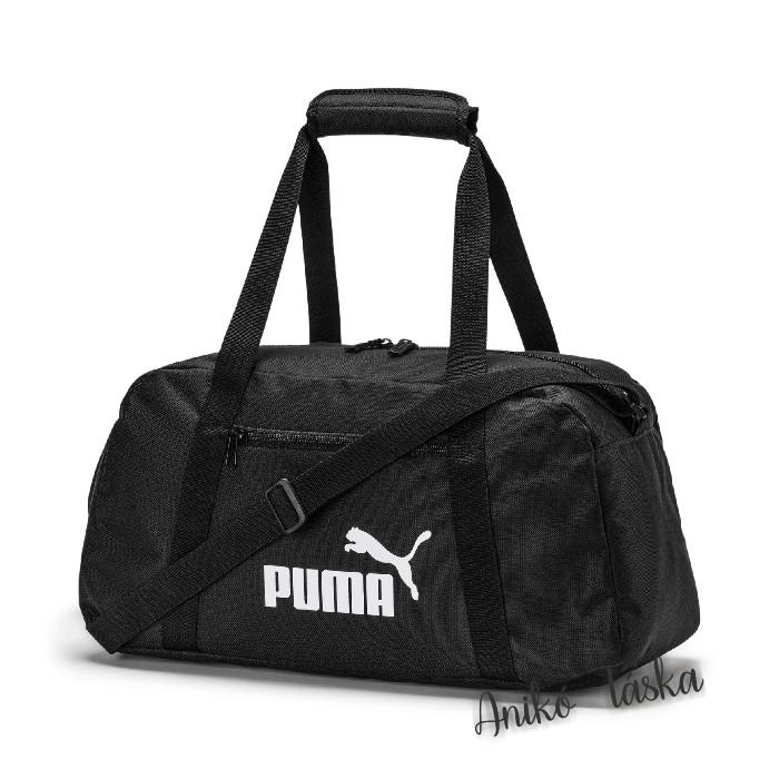 Puma edző táska egyenes cipzáras fekete