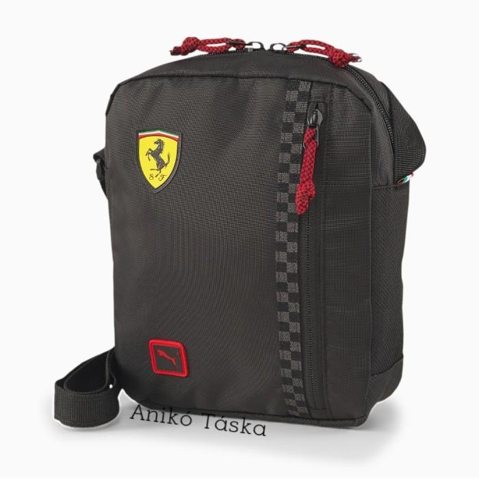Ferrari vászon átvetős táska fekete Puma20