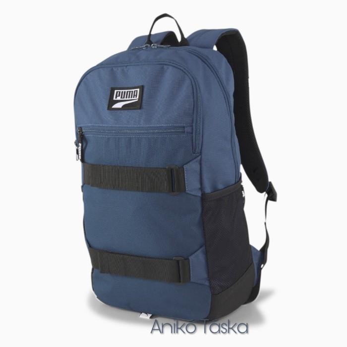 Puma sok zsebes háti táska gördeszkatartós farmer kék