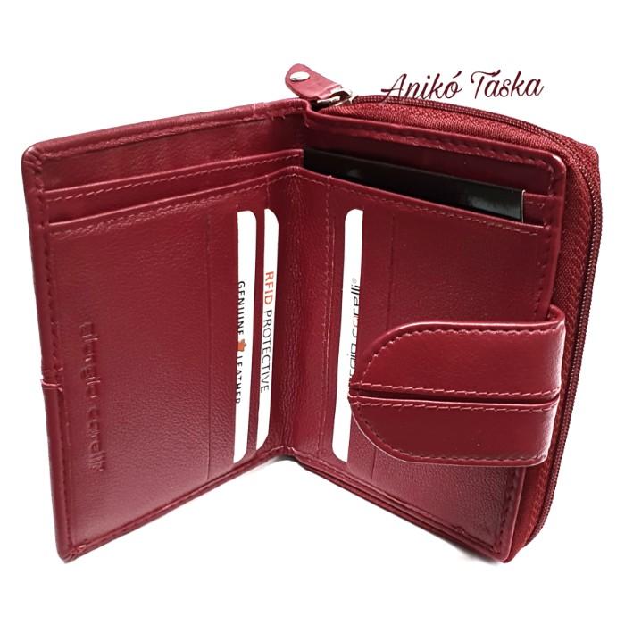 Kadro meggy piros bőr női pénztárca