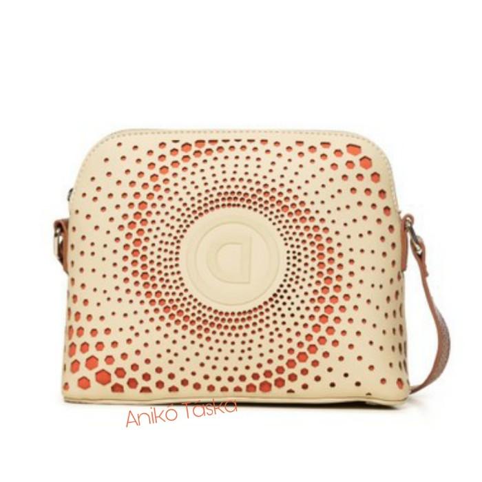 Desigual női táska íves koktél táska tört fehér