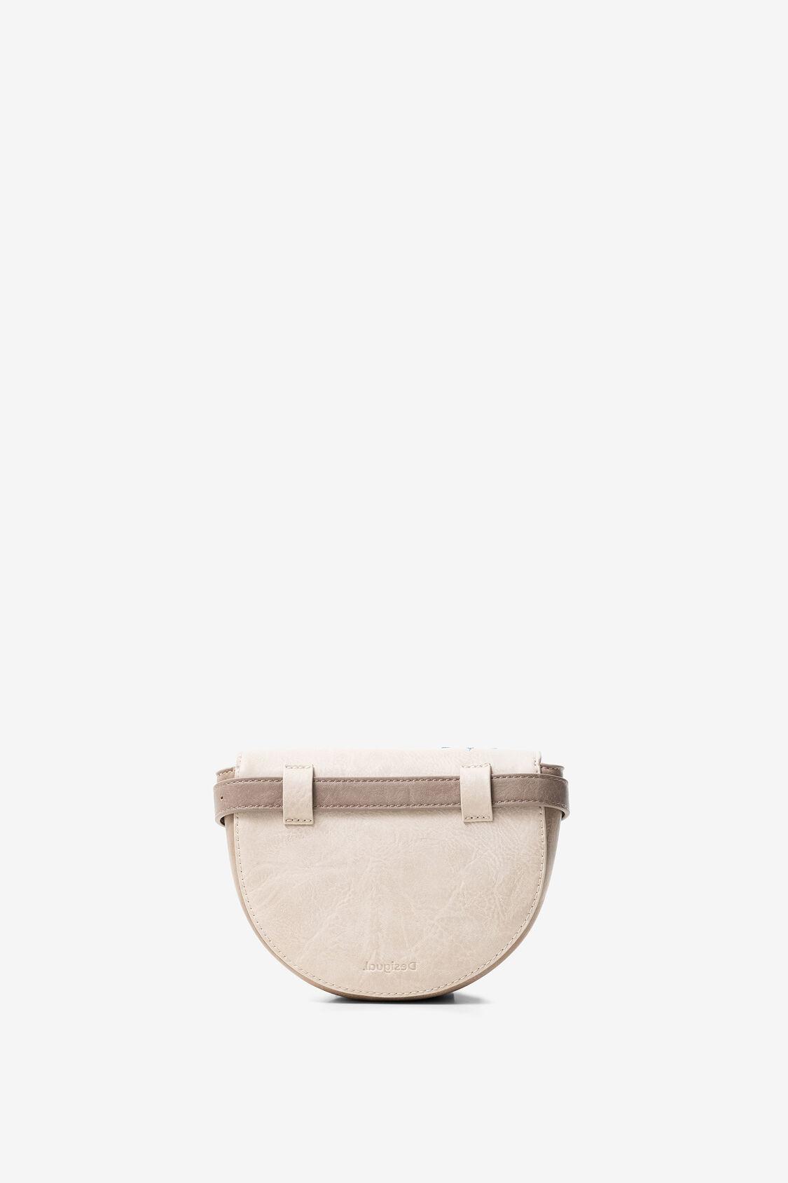 Desigual női táska és övtáska egyben félhold alakú bézs