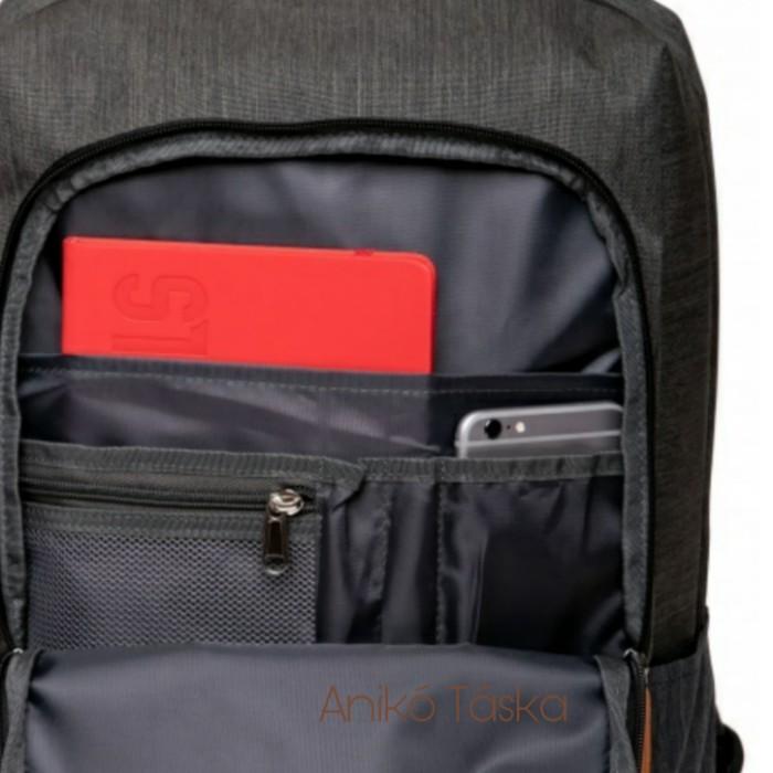 HeavyTools hátitáska laptoptarós szürke Estus