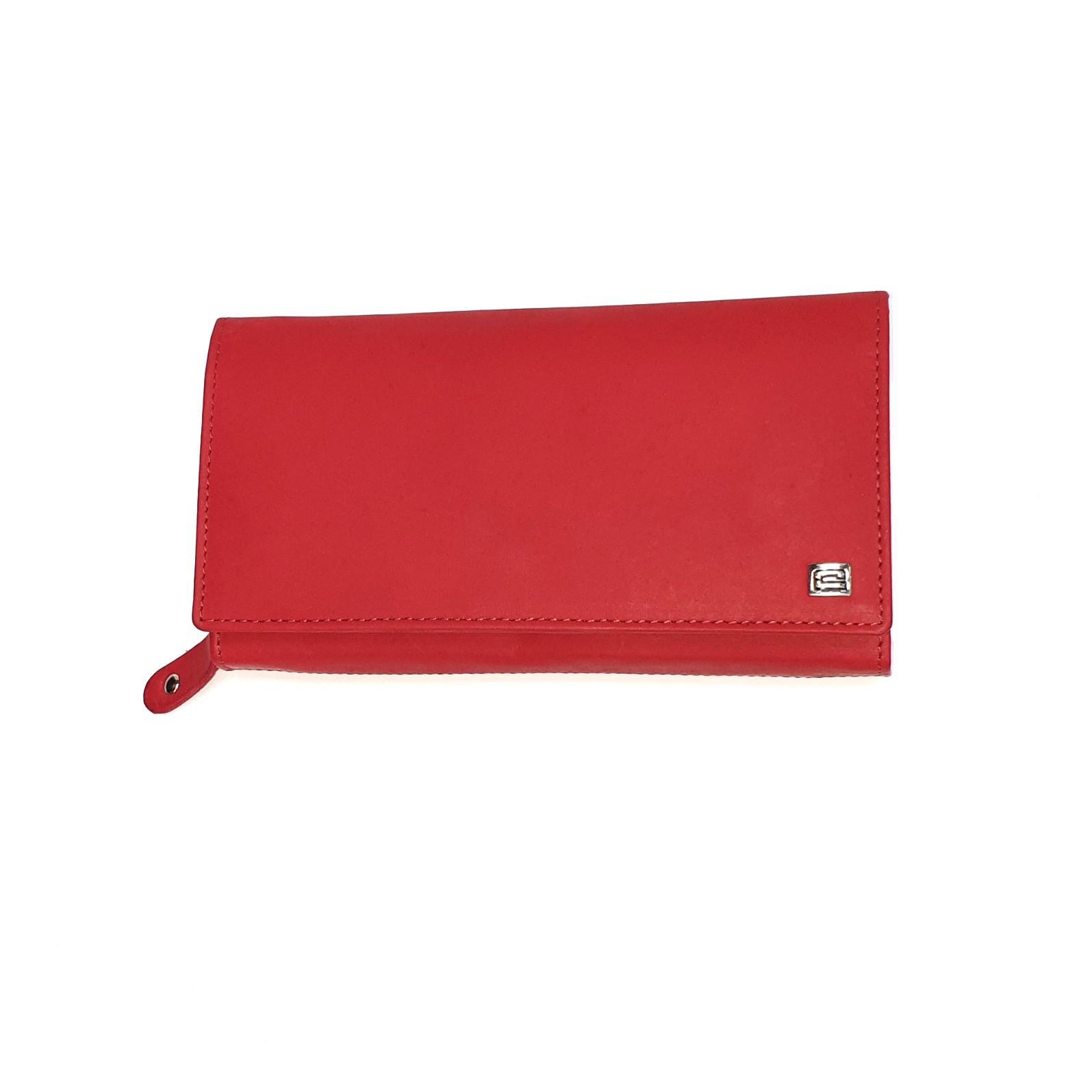 Piros mattbőr női nagy pénztárca Kadro