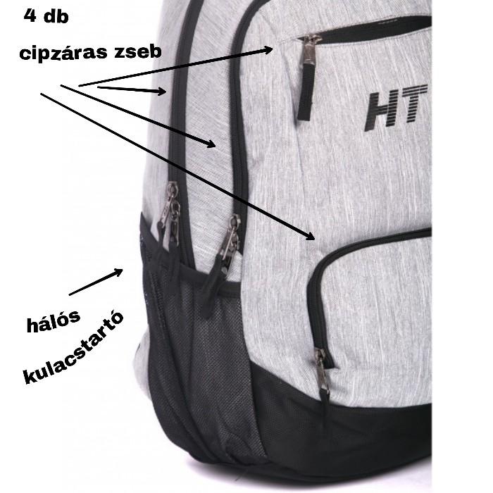 HeavyTools hátitáska laptoptarós cirmosszürke