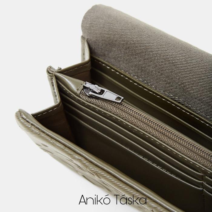 Desigual fedeles pénztárca brifko méret dombornyomott szürkészöld