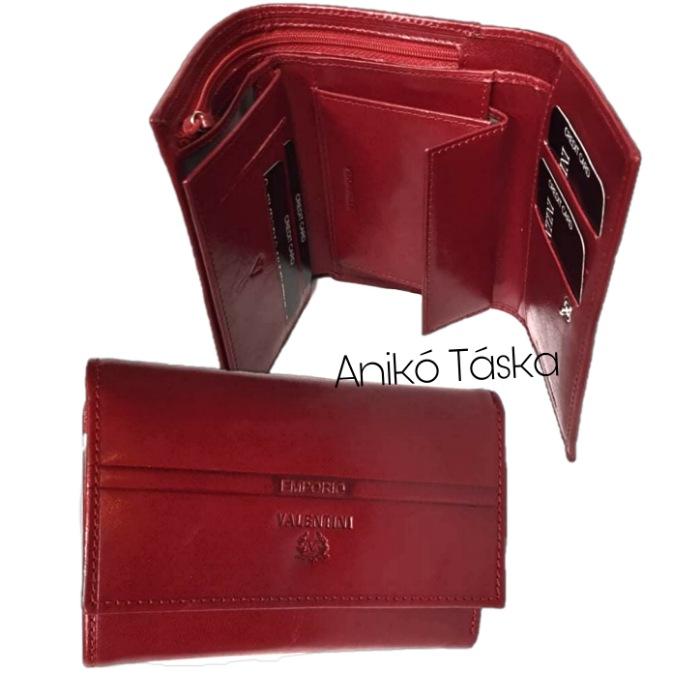 Valentíni Piros női pénztárca belső apró tartós