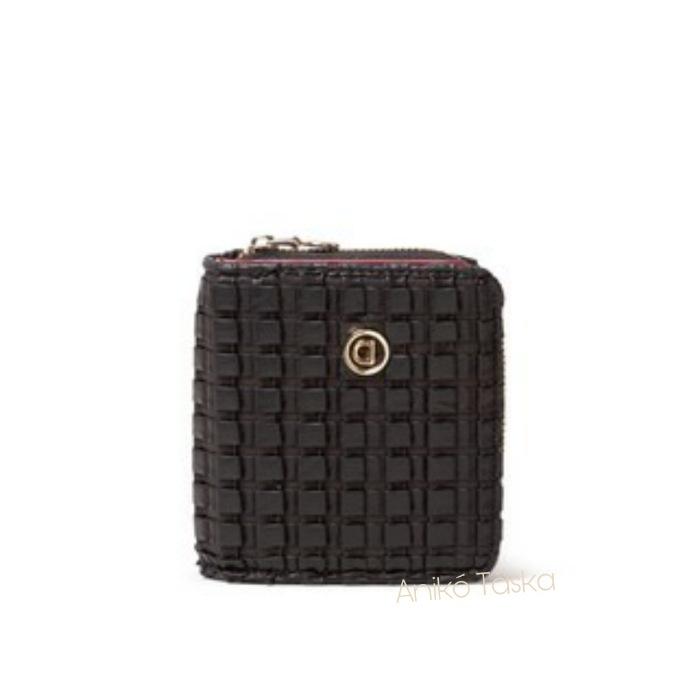 Desigual mini pénztárca texturált fekete