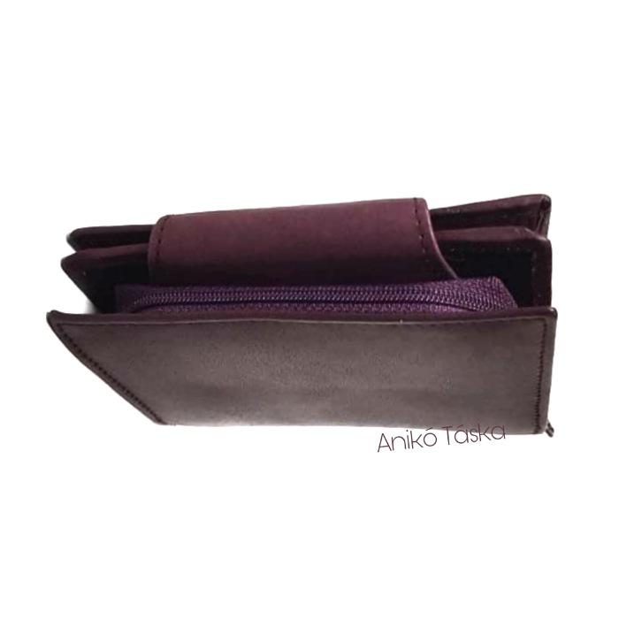 S. BELLMONTE kártyatartós belső patentos pénztárca lila