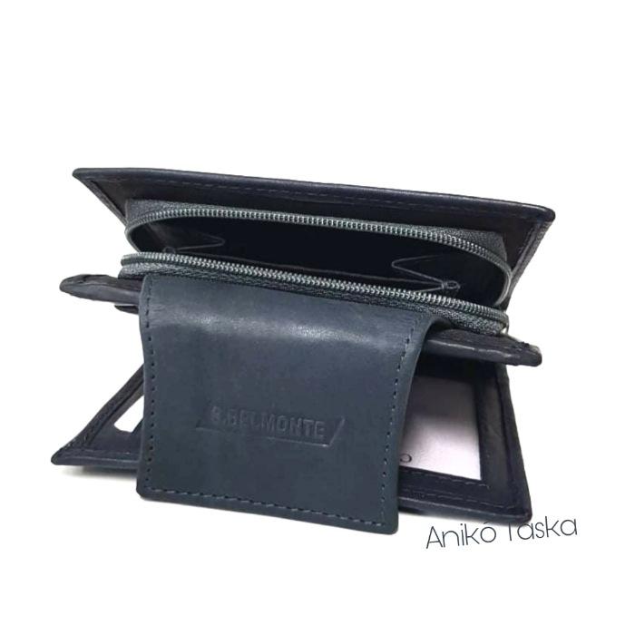 S. BELLMONTE kártyatartós belső patentos pénztárca kék