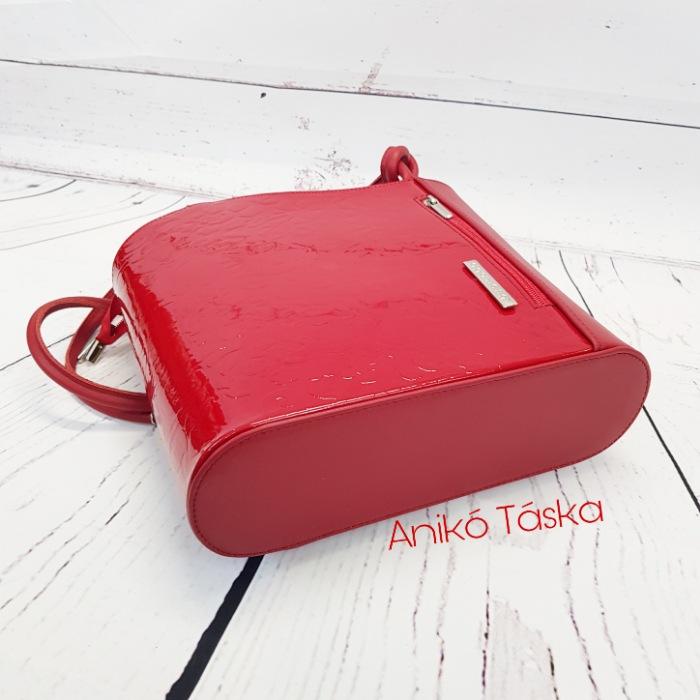 AgaHengl bőr női válltáska hátizsák piros