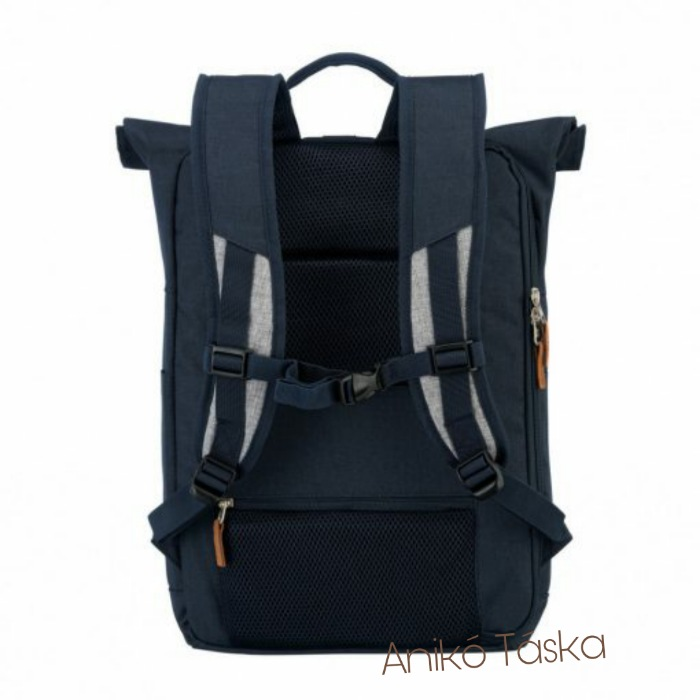 Travelite laptoptartós hátizsák feltekerhető fedéllel farmerkék