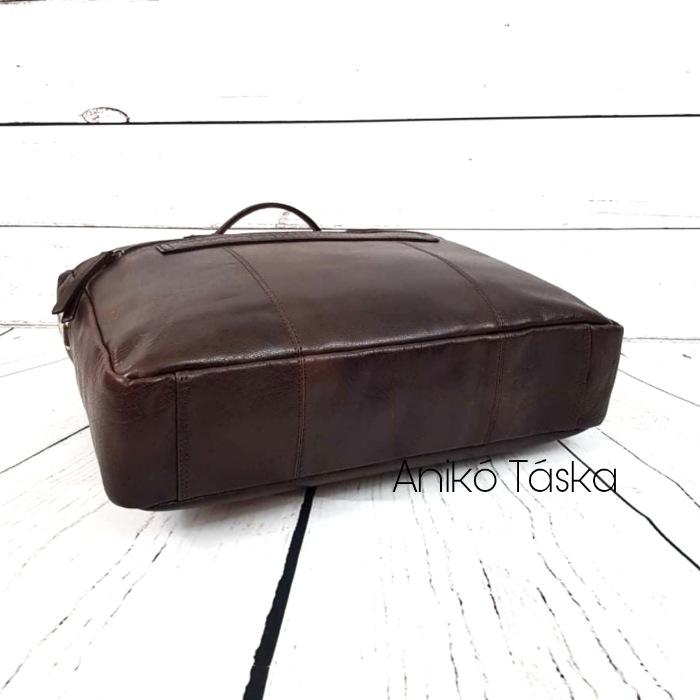 Giorgio Carelli bőr laptoptartós aktatáska 15,6' sötétbarna