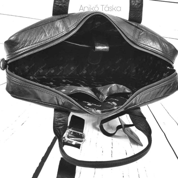 Giorgio Carelli bőr laptoptartós aktatáska 15,6' fekete