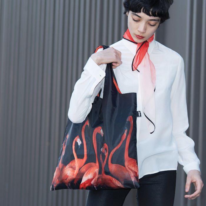 LOQI bevásárló táska flamingó