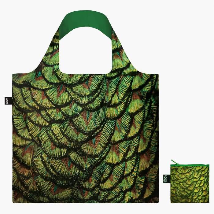 LOQI bevásárló táska indiai páva