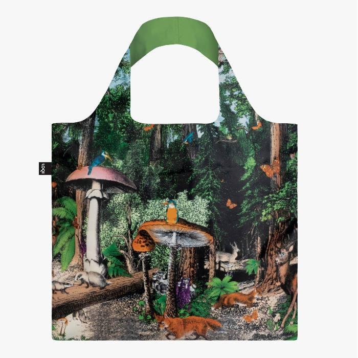LOQI bevásárló táska fekete erdő