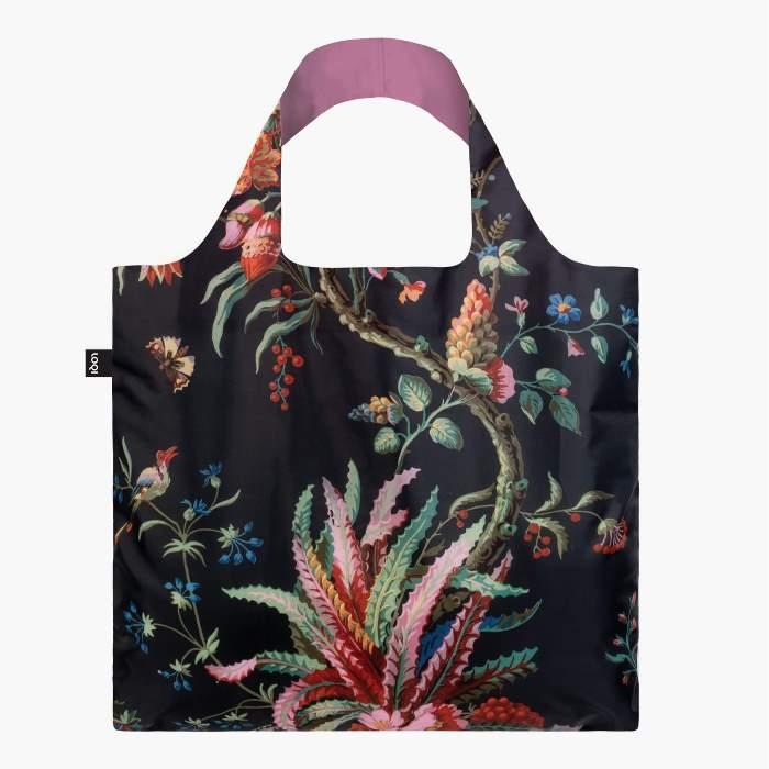 LOQI bevásárló táska arabeszk virágok