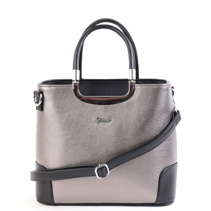 Karen női merev falú kézi táska 1491 ezüst fekete