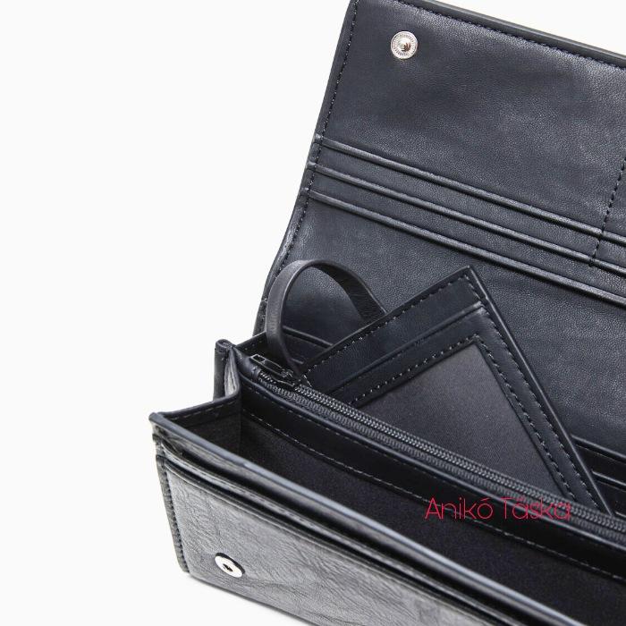 Desigual fedeles hosszú pénztárca himzett fekete