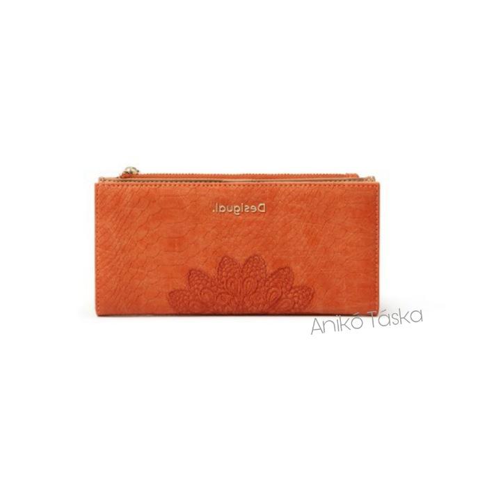 Desigual hosszú pénztárca természetes narancs
