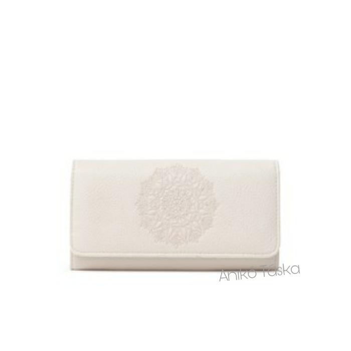 Desigual hosszú pénztárca fedeles plusz kártyatartóval tört fehér