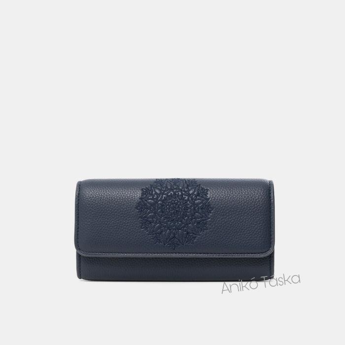 Desigual hosszú pénztárca fedeles plusz kártyatartóval kék