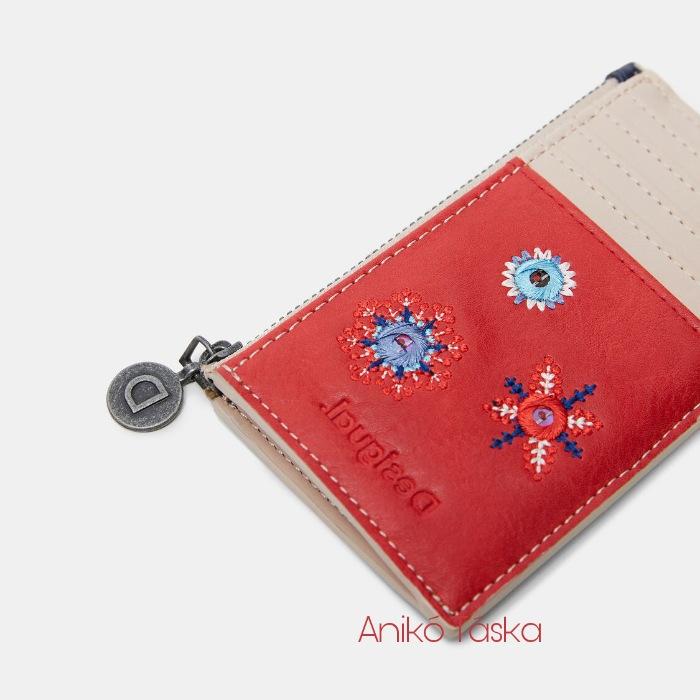 Új Desigual kicsi pénztárca/kártyatartó piros
