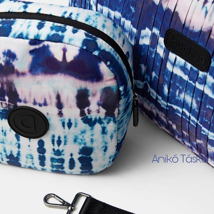Új Desigual könnyed vászon női sportos táska virágos