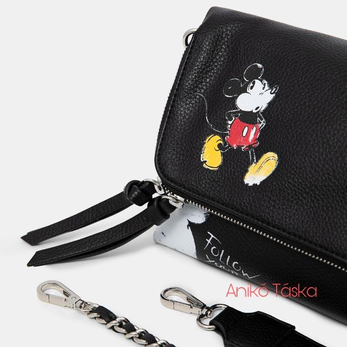 Új Desigual Mickey női táska fekete