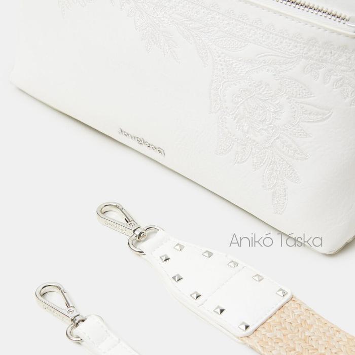 Új Desigual átvetős táska cserélhető vállpántokkal fehér