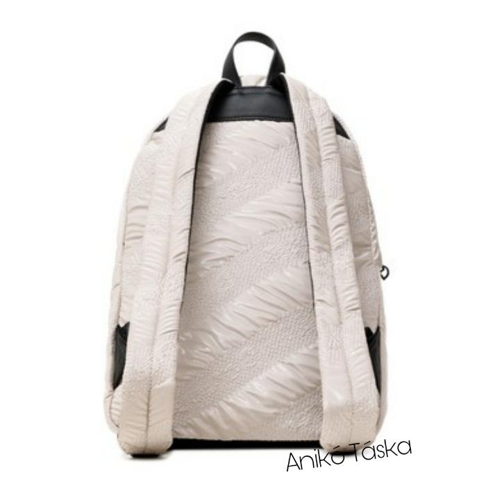 Desigual női nagy hátizsák dzseki anyagú bézs
