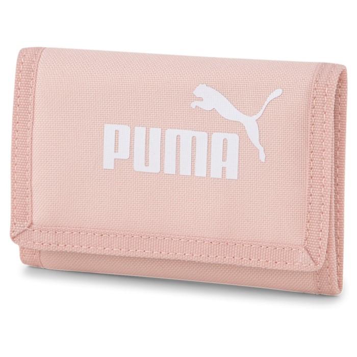 Új Puma tépőzáras vászon pénztárca rózsaszín