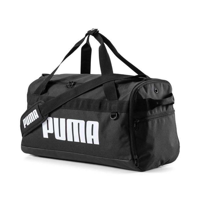 Új Puma S kis méretű egyszerű sporttáska hevederes fekete