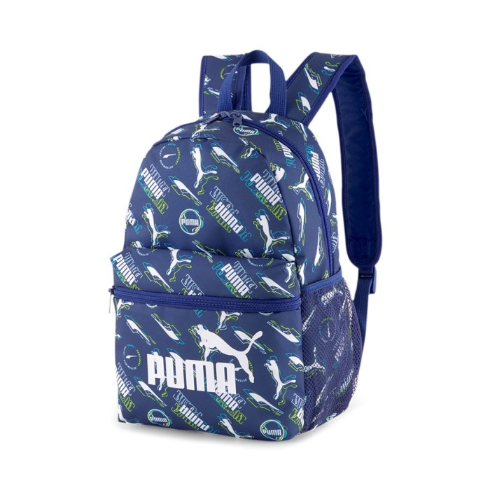 Új Puma gyerek hátizsák kék feliratos