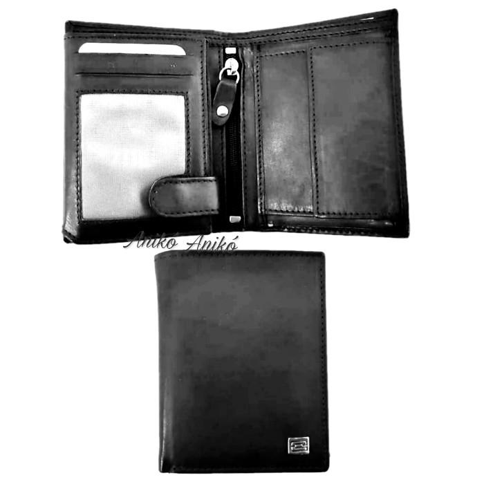 Kadro álló fazonú bőr férfi pénztárca fekete