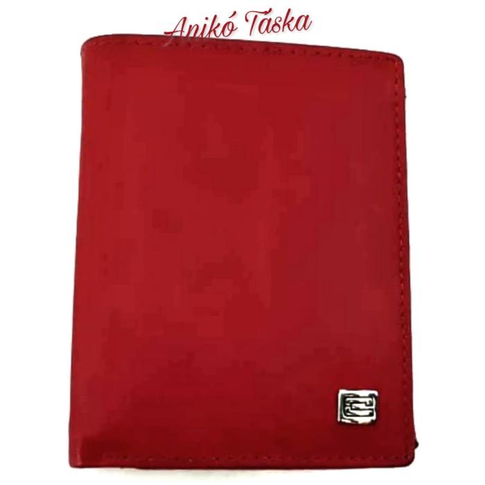 Kadro álló fazonú bőr női kis irattárca piros