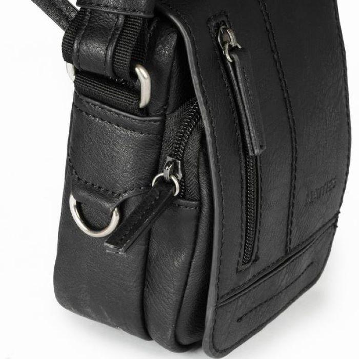 Új Matties kicsi fedeles férfi táska fekete 6443