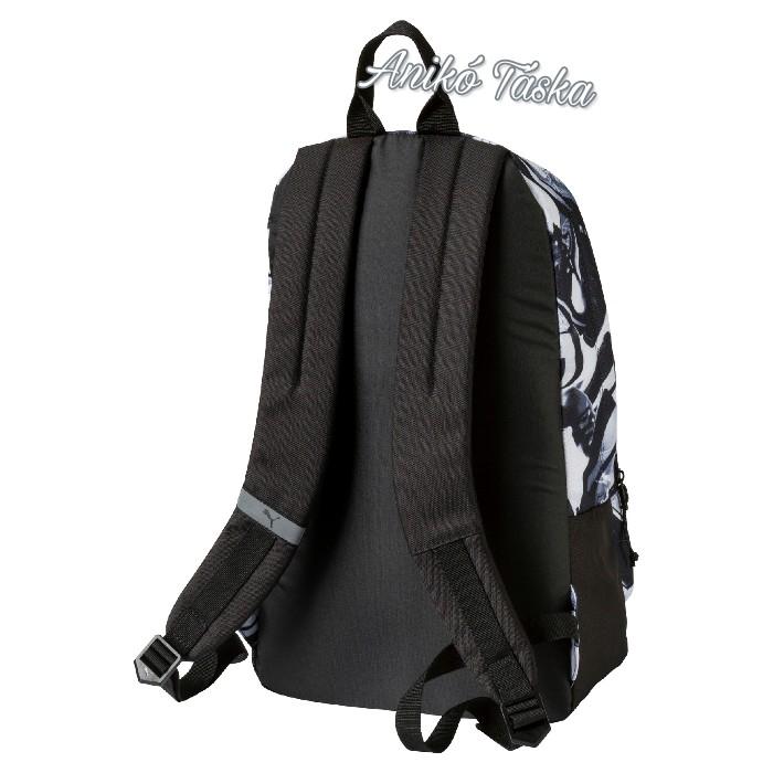 Puma laptoptarós hátizsák fekete-fehér