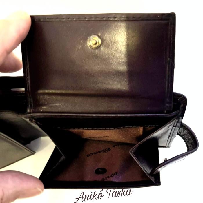 Férfi bőr pénztárca patentos barna Corvo Bianco