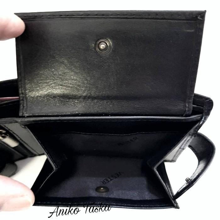 Férfi bőr pénztárca belül patentos sok kártyás barna Vester