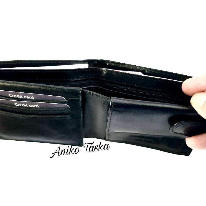 Férfi bőr pénztárca felhajtós igazolványtartóval fekete Vester